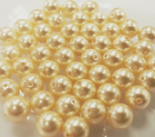 6mm SWAROVSKI® ELEMENTS Light Gold Crystal Pearl Beads - 50 pearls for jewellery making, beadwork and craft